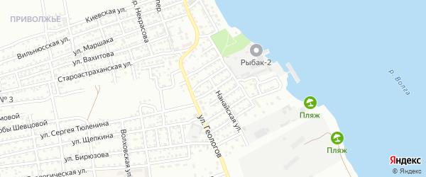 Северодвинская улица на карте Астрахани с номерами домов