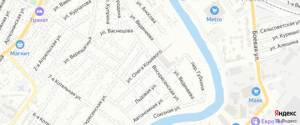 Воскресенская улица на карте Астрахани с номерами домов