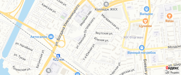 Балтийская улица на карте Астрахани с номерами домов