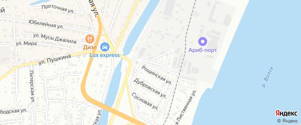 Рощинская 1-я улица на карте Астрахани с номерами домов