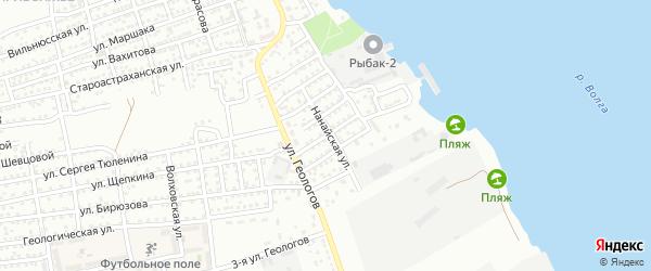 Улица Глазунова на карте Астрахани с номерами домов
