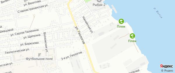 Улица Парижской Коммуны на карте Астрахани с номерами домов