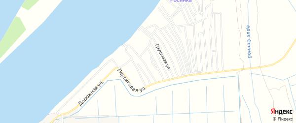 Садовое товарищество Елочка на карте Астрахани с номерами домов