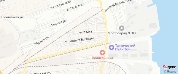 Степная улица на карте села Солянки Астраханской области с номерами домов