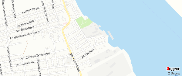Улица Речников на карте Астрахани с номерами домов