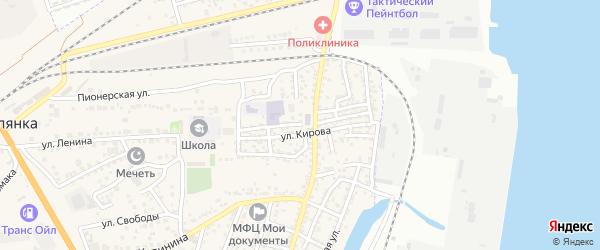 Трудовая улица на карте села Солянки Астраханской области с номерами домов