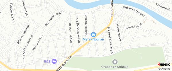 Земляничная улица на карте Астрахани с номерами домов