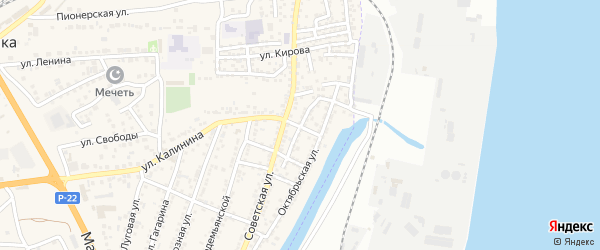Мало-Солянская улица на карте села Солянки Астраханской области с номерами домов