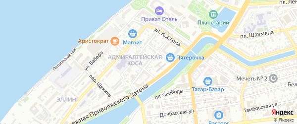 Ярославская улица на карте Астрахани с номерами домов