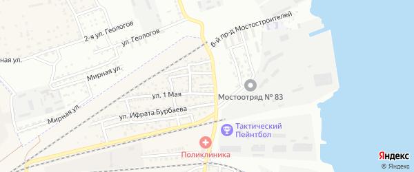 Кривой переулок на карте села Солянки Астраханской области с номерами домов