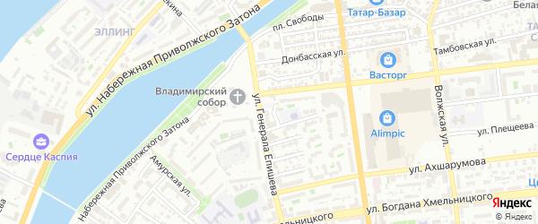 Гражданская улица на карте Астрахани с номерами домов