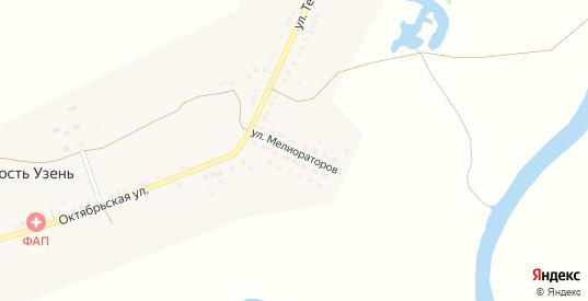 Улица Мелиораторов в селе Крепость Узень в Саратовской области с номерами домов на карте. Спутник и схема онлайн