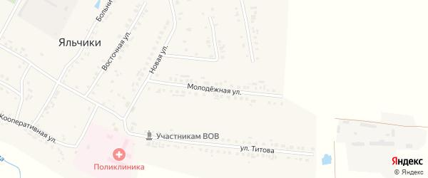Молодежная улица на карте села Яльчиков с номерами домов