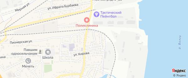 Восточная улица на карте села Солянки Астраханской области с номерами домов