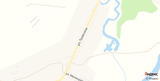 Улица Телегина в селе Крепость Узень в Саратовской области с номерами домов на карте. Спутник и схема онлайн