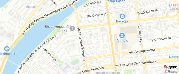 Улица Радищева на карте Астрахани с номерами домов