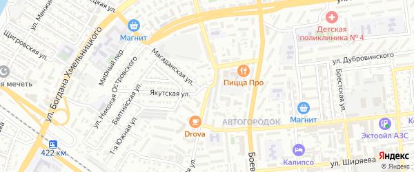 Кольская улица на карте Астрахани с номерами домов