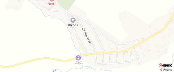 Школьная улица на карте села Икры Дагестана с номерами домов