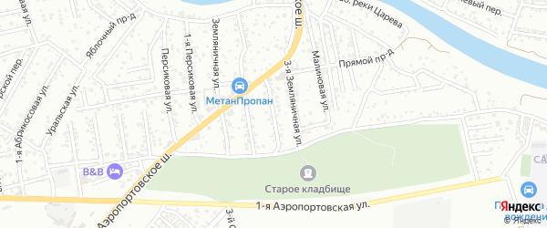 Земляничная 2-я улица на карте Астрахани с номерами домов