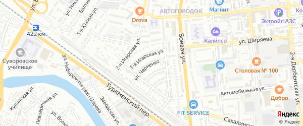 Улица Черненко на карте Астрахани с номерами домов