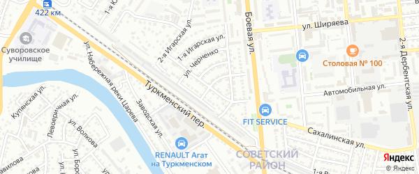 Улица Боевая 5-й проезд на карте Астрахани с номерами домов