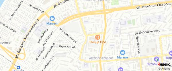 Пороховая улица на карте Астрахани с номерами домов