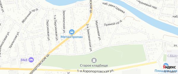 Земляничная 3-я улица на карте Астрахани с номерами домов