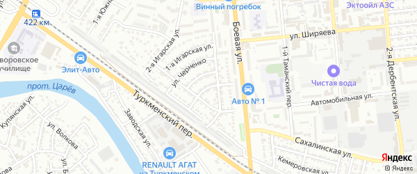 Улица Проезд 2-й на карте Астрахани с номерами домов