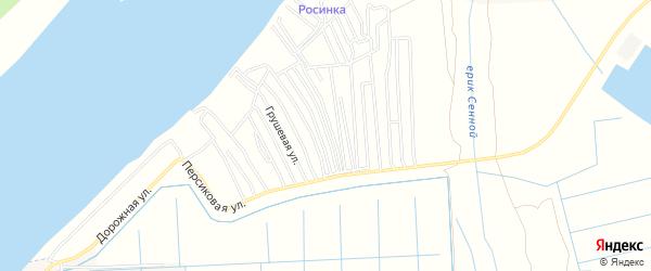 Садовое товарищество Экран на карте Астрахани с номерами домов