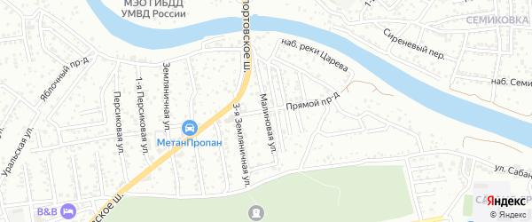 Малиновая улица на карте Рыбника-2 с номерами домов