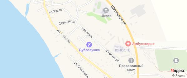 Степная улица на карте села Яксатово Астраханской области с номерами домов