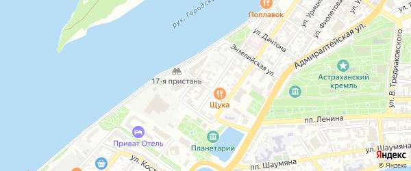 Улица Лейтенанта Шмидта на карте Астрахани с номерами домов