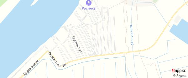 Садовое товарищество СДТ Снабженец на карте Астрахани с номерами домов