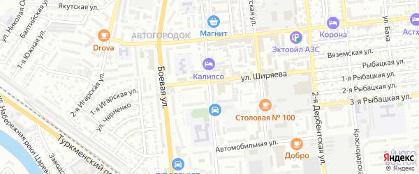 Таманский переулок на карте Астрахани с номерами домов