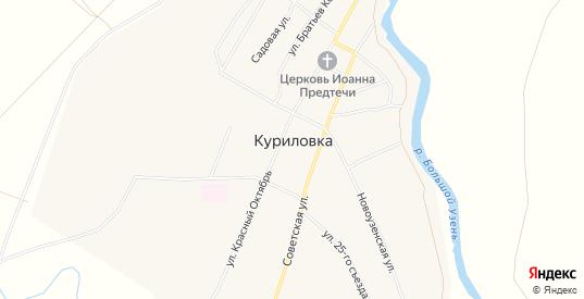 Карта села Куриловка в Саратовской области с улицами, домами и почтовыми отделениями со спутника онлайн