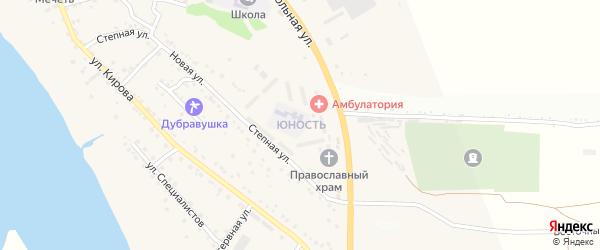 Микрорайон Юность на карте села Яксатово с номерами домов
