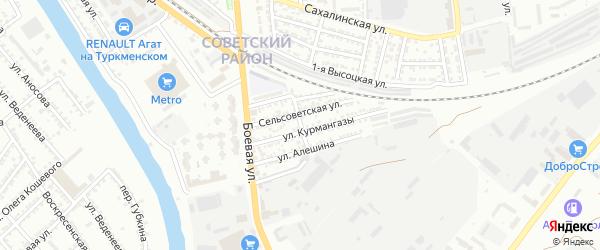 Салютная 1-я улица на карте Астрахани с номерами домов