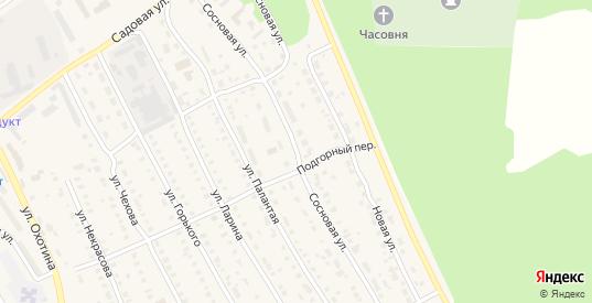 Сосновая улица в Звенигово с номерами домов на карте. Спутник и схема онлайн