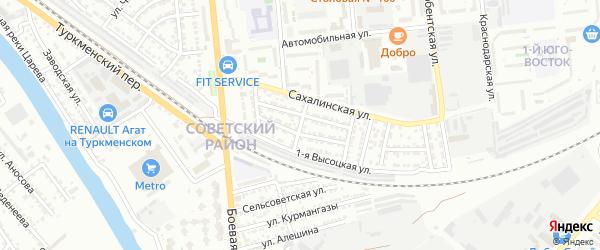Орловская улица на карте Астрахани с номерами домов