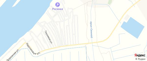 Садовое товарищество Заря на карте Астрахани с номерами домов