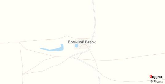 Карта хутора Большой Вязок в Саратовской области с улицами, домами и почтовыми отделениями со спутника онлайн