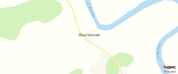 Карта Ярыгинской деревни в Архангельской области с улицами и номерами домов