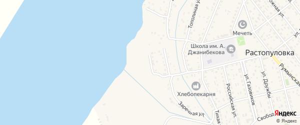 Улица имени Баймурзы Суюнова на карте села Растопуловки Астраханской области с номерами домов
