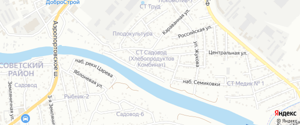 Сиреневый переулок на карте Астрахани с номерами домов