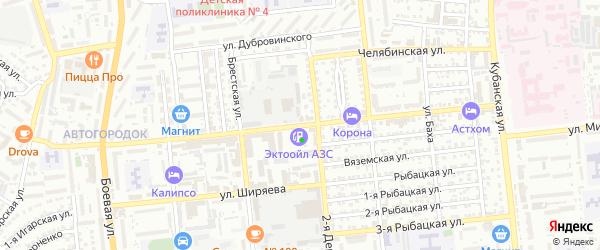 Моздокская улица на карте Астрахани с номерами домов
