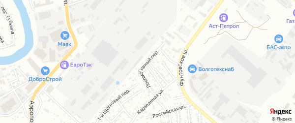 Локомотивный переулок на карте Астрахани с номерами домов