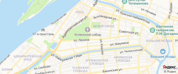 Территория СНТ Родничок на карте Астрахани с номерами домов