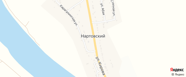 Улица Кирова на карте Нартовского поселка с номерами домов