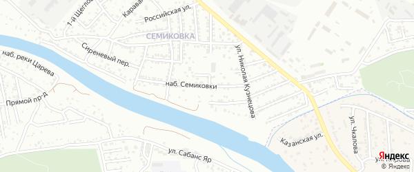 Улица Набережная Семиковки на карте Астрахани с номерами домов