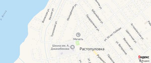Румынский переулок на карте села Растопуловки с номерами домов